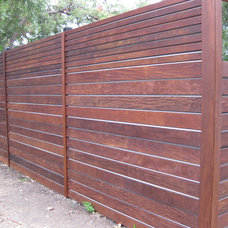 Modern Landscape massaranduba Ipe Garapa decking and siding