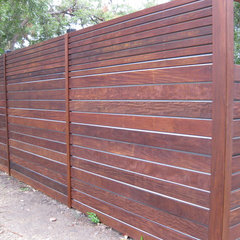modern fencing massaranduba Ipe Garapa decking and siding