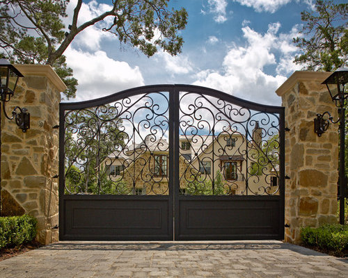 Wrought Iron Driveway Gates Ideas Pictures Remodel And Decor