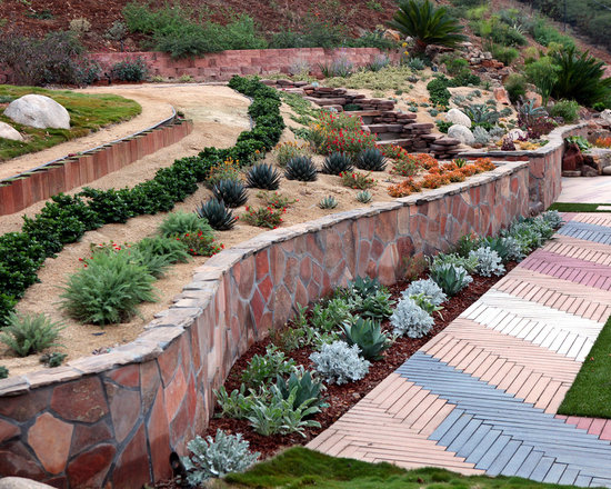 Garden Ideas On A Hill steep hill gardening ideas | houzz