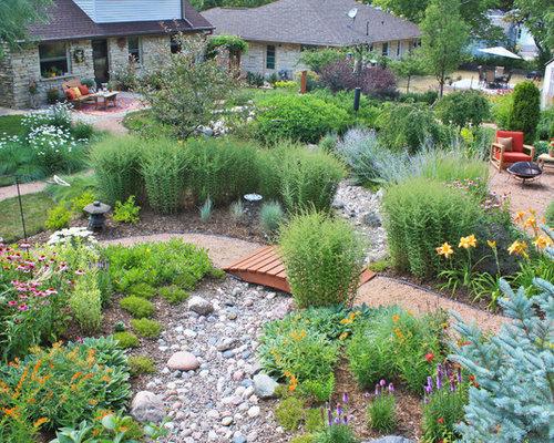 dry river bed landscaping houzz. Black Bedroom Furniture Sets. Home Design Ideas