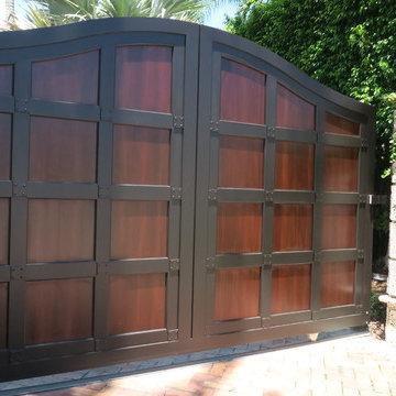 Miami Beach Custom Metal and Wood Gates