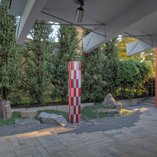 This is an example of a midcentury modern landscaping in Denver.