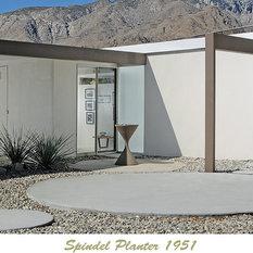 palm springs modernist desert landscape design idea midcentury modern landscape design ideas with the spindel planter from stardustcom and poured in place - Mid Century Modern Landscape Design Ideas