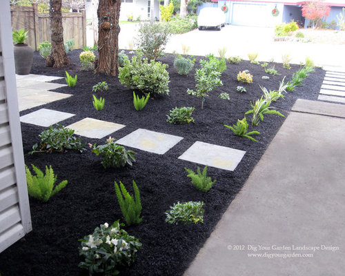Landscape Design With Black Mulch : Black mulch ideas pictures remodel and decor
