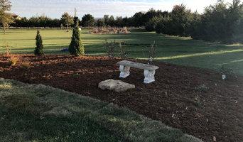 Minimal budget friendly flowerbed install