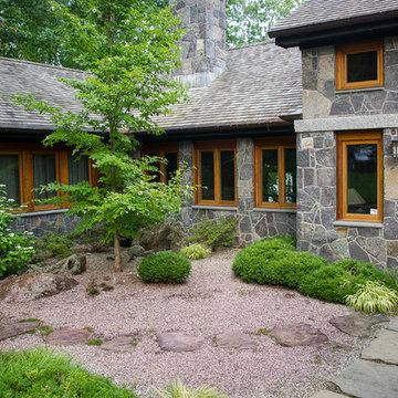 Minimalist gravel garden