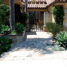 Mediterranean Landscape by Ponce Construction Pools & Landscape