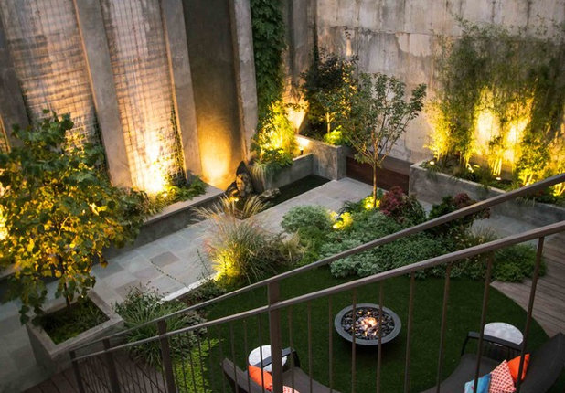Современный Сад by Outside Space NYC Landscape Design