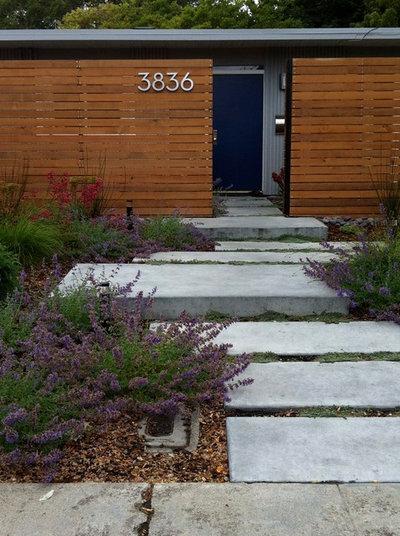 Midcentury Landscape by Bonnie Brock Landscape Design