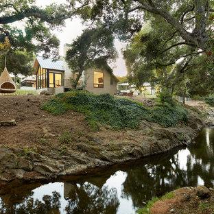 Inspiration for a farmhouse backyard pond in San Francisco.