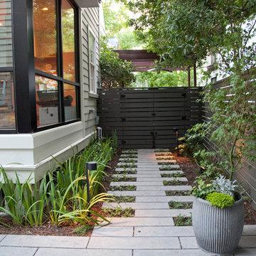 modern garden in historic Charleston, SC