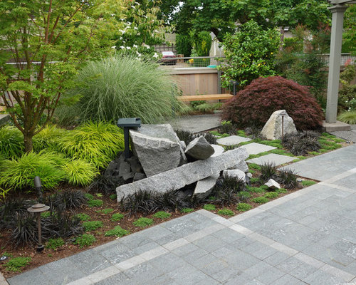Medium sized industrial garden design ideas renovations for Medium garden design