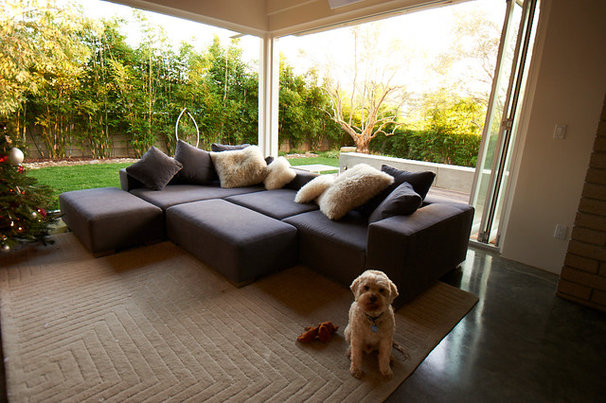 Modern Living Room by Falling Waters Landscape
