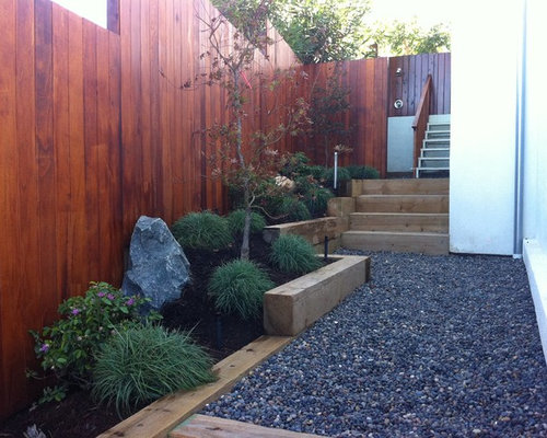 Landscape Timber Steps Houzz