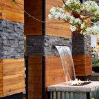 Corten Steel Drainage Runnel Modern Landscape