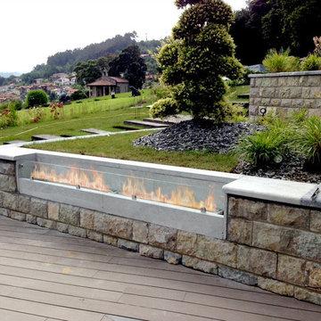 Modern Outdoor Ethanol Fireplace