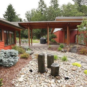 Modern Portland New Construction  - Front Exterior Walkway & Garden