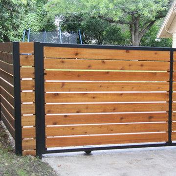 Modern Red Cedar Custom Fence