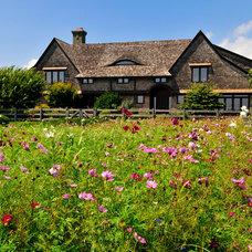 Farmhouse Landscape by Davis Landscape Design LLC