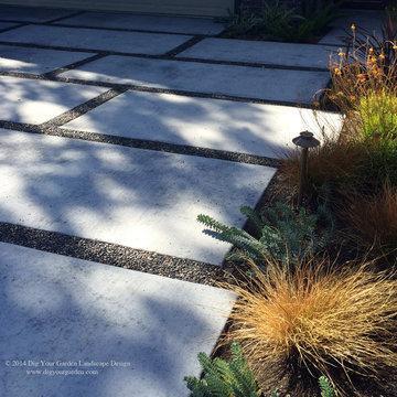 Modern Water-Side Landscape Remodel - Front, Bel Marin Keys, Novato, CA