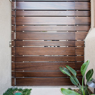 Modern Wood Planks Side Gate