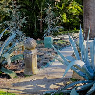 Photo of an eclectic drought-tolerant landscaping in Santa Barbara.