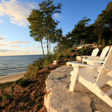 Beach Style Landscape by Cottage Home, Inc.