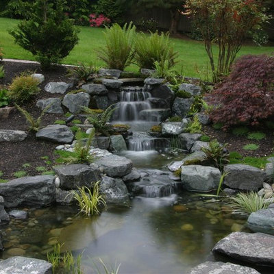 Inspiration for a contemporary waterfall in Seattle.