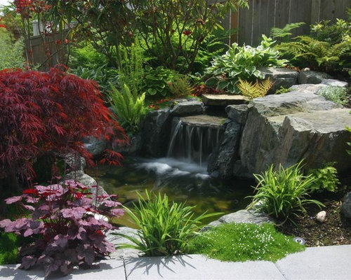 Small Pond Waterfall Home Design Ideas Pictures Remodel And Decor