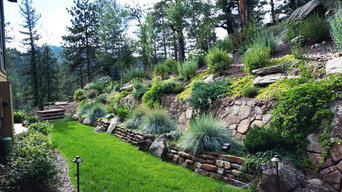 Mountain Landscaping blends with home and mountains