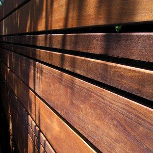 サンフランシスコの夏のコンテンポラリースタイルのおしゃれな裏庭 (日向) の写真