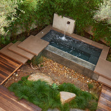 Modern Pool by Falling Waters Landscape