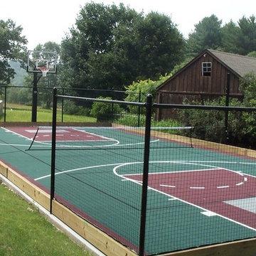 Multi-sport Backyard Basketball Courts in Lincoln