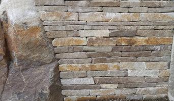Muret en pierre de silice