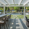 My Houzz: A Family Backyard for Dining, Relaxing, Swimming and Playing
