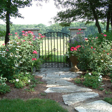 Naperville Private Residence Iron Gate and Flagstone