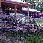 Gabion Lounge Rustic Landscape Indianapolis By Alsinc