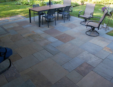 Natural stone patios & walls
