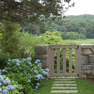 New England Fieldstone Wall and Gate on Cape Cod