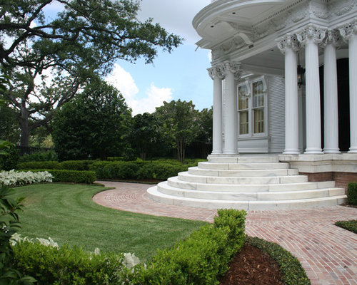 Design Ideas For A Traditional Partial Sun Front Yard Brick Landscaping In  New Orleans.