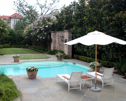 Privacy hedge houzz for Landscaping rocks new orleans