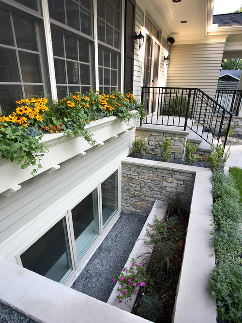 Basement Wells Part - 27: Design Ideas For A Traditional Landscaping In Minneapolis.