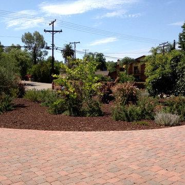 Newly paved circular driveway