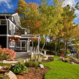 This is an example of a traditional landscaping in New York for fall.