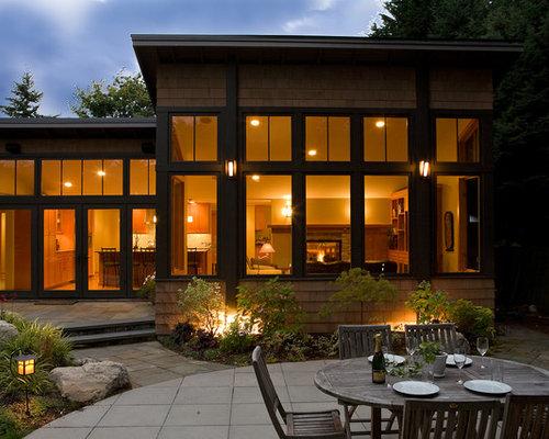 Dark exterior trim home design ideas pictures remodel for Modern house exterior window trim