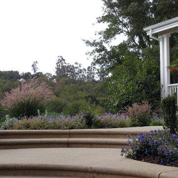 Novato Mediterranean Front Hillside Garden
