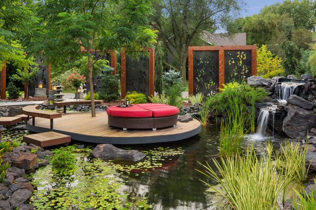 Asian Landscape by Mom's Design Build