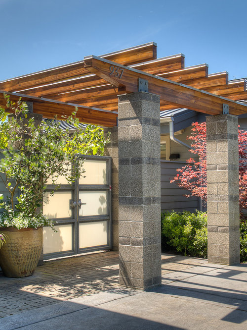 Metal pergola designs houzz for Pergola images houzz