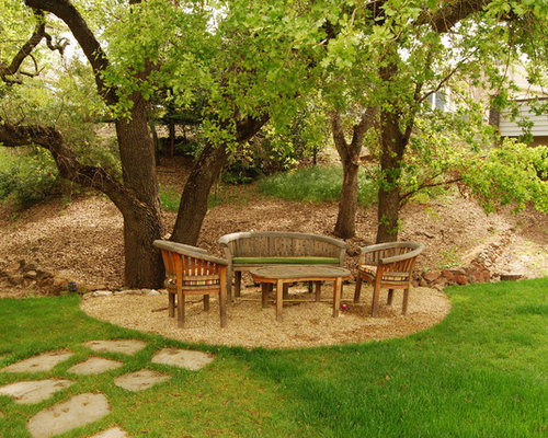 Landscaping Under Elm Trees : Front yard sitting area houzz